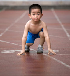 A beginner runner