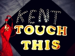 The top of my cap for graduation.