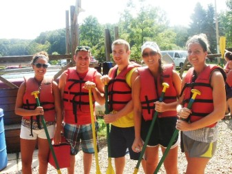 Some of the fearless canoers