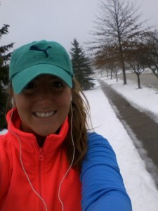 A little cold, but still braving the run!