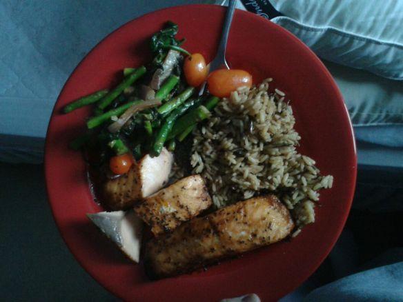 Thursday big dinner (2.5 hour workout)