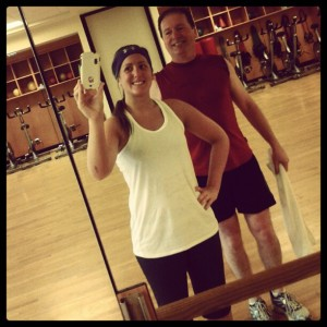 My dad and I after kickboxing class.