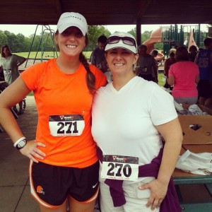 Mom and I after the race.