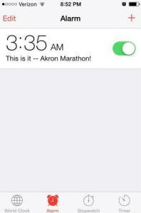 akron alarm clock