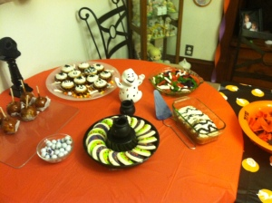 One of two dessert tables.