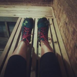 Chillin' in the Sauna.