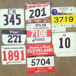 my 2013 Race Bibs