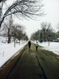 Snowy 5K route