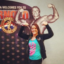 Me posing with Arnold.