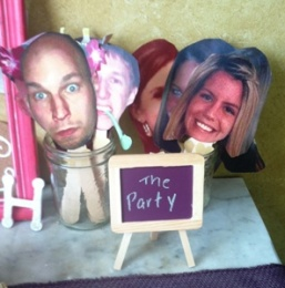 We had cut-outs of the bridal parties faces, which were a hit.