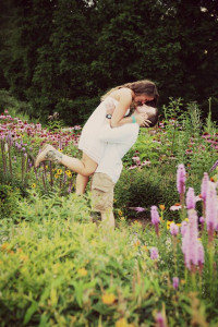 engagement-picture-jump-flowers