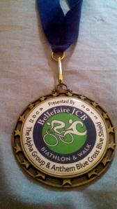 Run brag! My medal from last year's race.