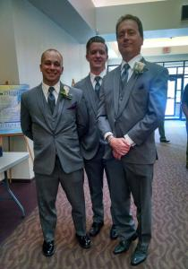 My two older brothers and Dad
