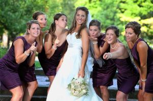 How beautiful are all my bridesmaids?!