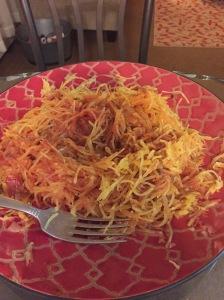 spaghetti squash - delicious!