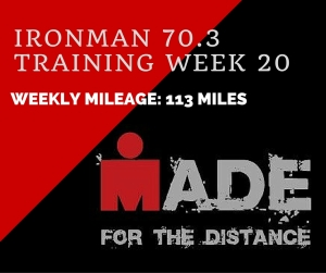 Ironman 70.3Training week 20-recap