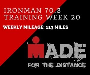 Ironman 70.3Training week 20-recap
