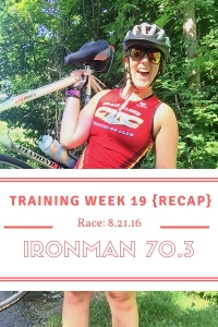 Ironman Ohio Training Week 19 Recap