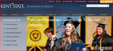 Making the homepage of Kent State circa 2012