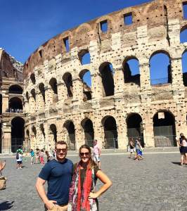 Visiting the Colosseum in Rome, Italy.