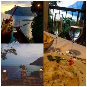 Monterosso al Mare - celebrating our one year anniversary dinner at an adorable mountain top hotel that my husband and I found.