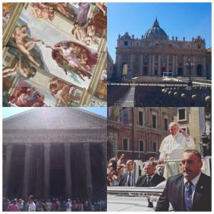 Vatican City, Rome - We were able to see The Pope come out to the crowds after the mass to canonize Mother Teresa.
