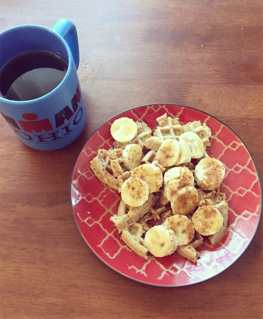 A good breakfast after a tough workout always helps put everything in perspective!